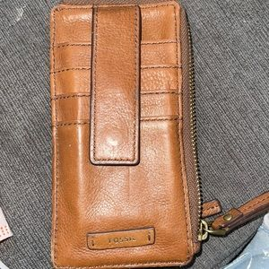 Fossil slim leather wallet